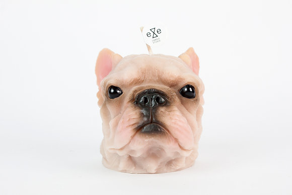 Frenchie candle (Color painted)