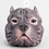 Thumbnail: Staffordshire Bull Terrier (pit bull) candle -Purple