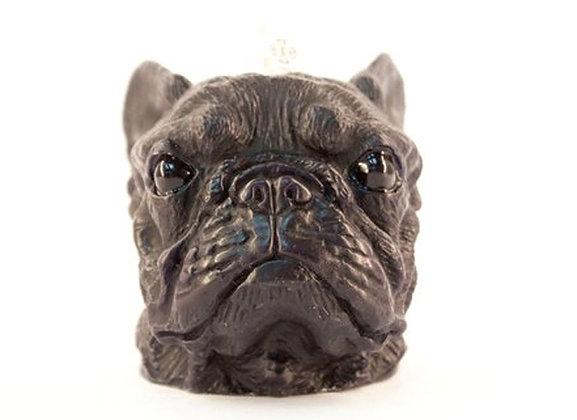 French Bulldog Candle (Black)
