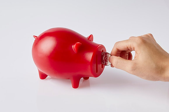 Candle piggy bank (Red)