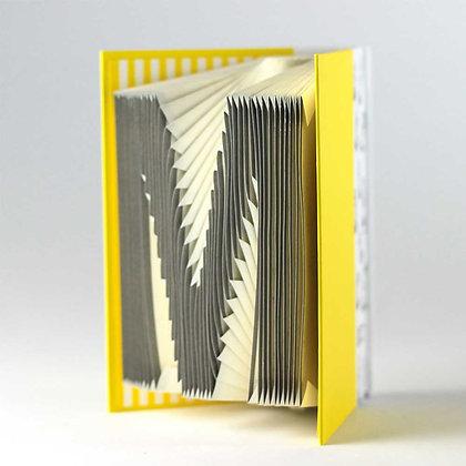 A-Z Folding notebook (Yellow)