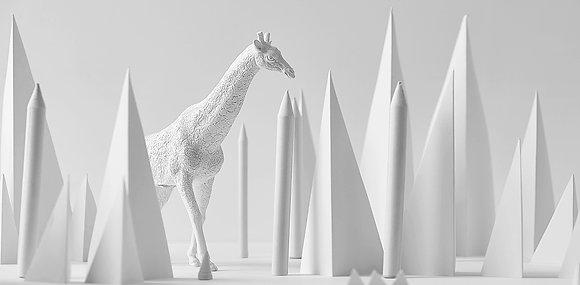 Giraffe paperweight