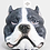 Thumbnail: Staffordshire Bull Terrier (pit bull) candle - Gray and White