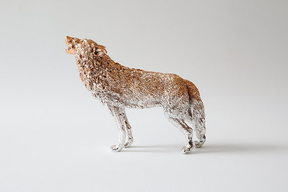 Wolf paperweight- Rose Gold