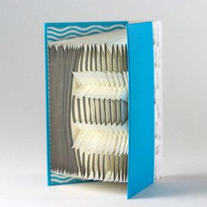 A-Z Folding notebook (Blue)