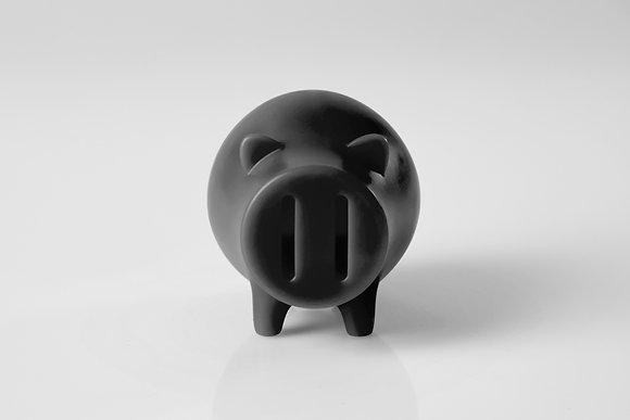 Candle piggy bank (Black)