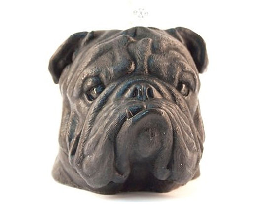 British Bulldog Candle (black)