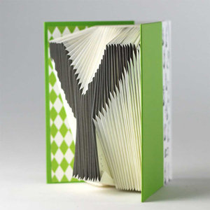 A-Z Folding notebook (Green)