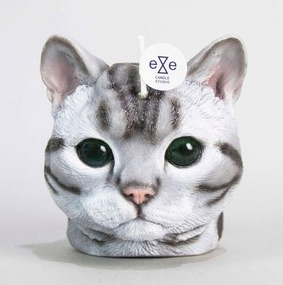 Cat Candle-American Shorthair Candle - grey tabby