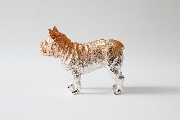 Bulldog paperweight-Rosegold