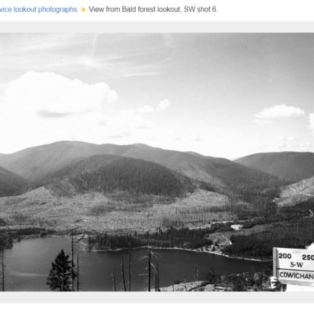 Bald Mountain SW view 1957