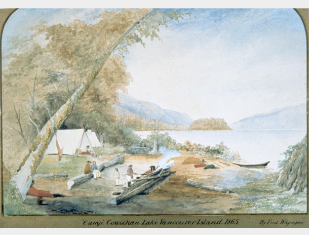 Camp Lake Cowichan 1853
