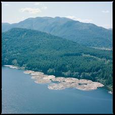 Log Booms on Lake C 1982