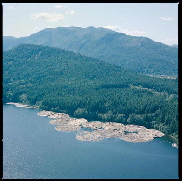 Log Booms on Lake C 1982