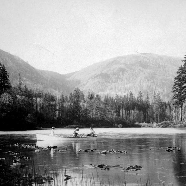 Fishing Lake Cowichan 1915