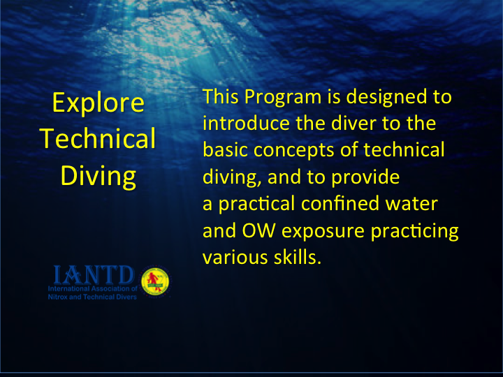 Explore Technical Diving