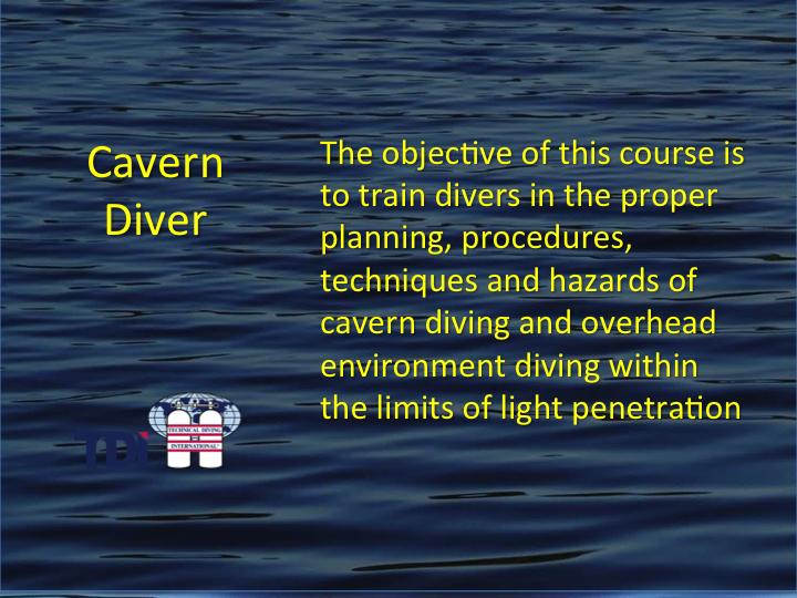 TDI_Cavern Diver