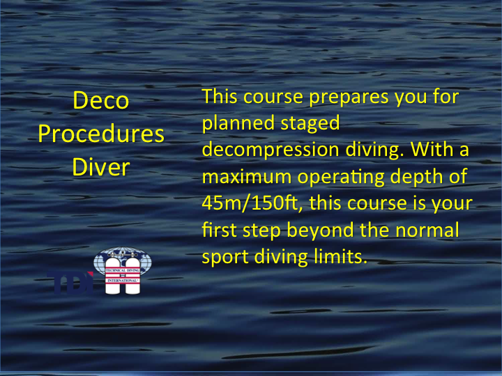 TDI_Deco Procedures Diver