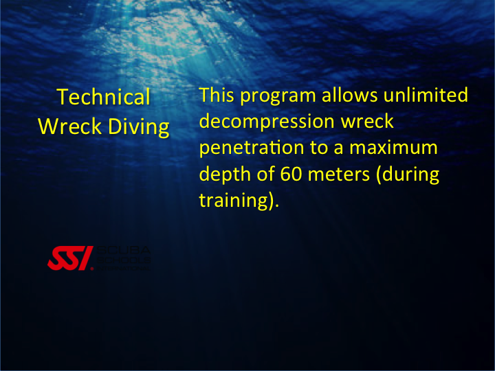 SSI_Technical Wreck Diving