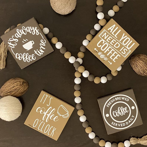Coffee Themed Signs