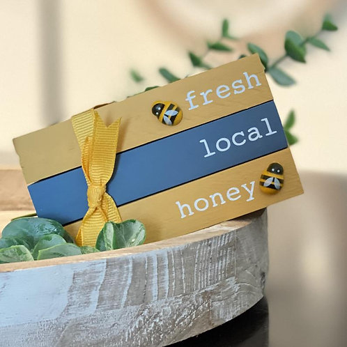 Bee Themed Mini Wooden Books