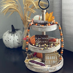 Thanksgiving Tiered Tray Decor Bundle