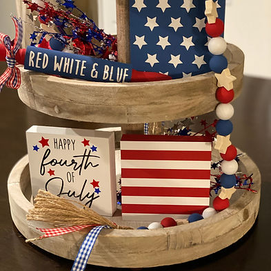Fourth Of July Tiered Tray Decor Bundle