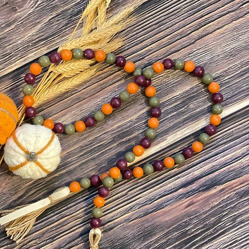 Fall Themed Wooden Bead Garland