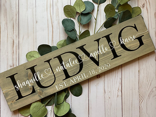 Family Name Hanging Sign