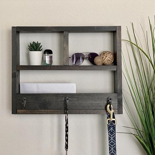 Entryway Shelf With Key Hooks & Mail Organizer