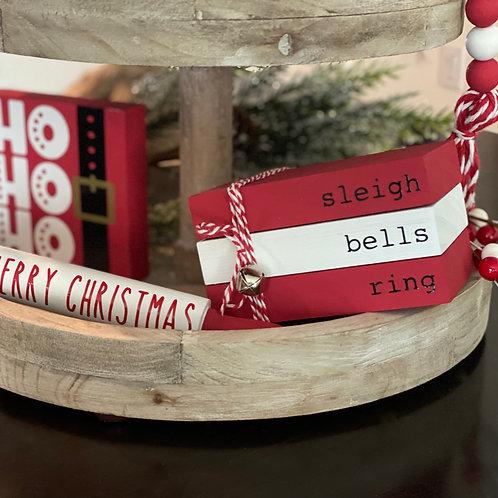 Christmas Themed Mini Wooden Books