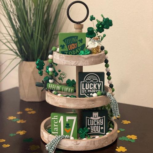 St. Patrick's Day Tier Tray Decor Bundle