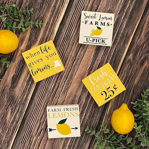 Lemon Themed Signs