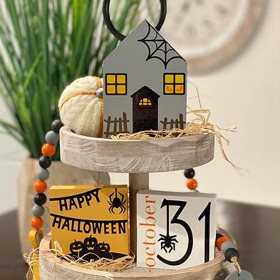 Halloween Tiered Tray Decor Bundle