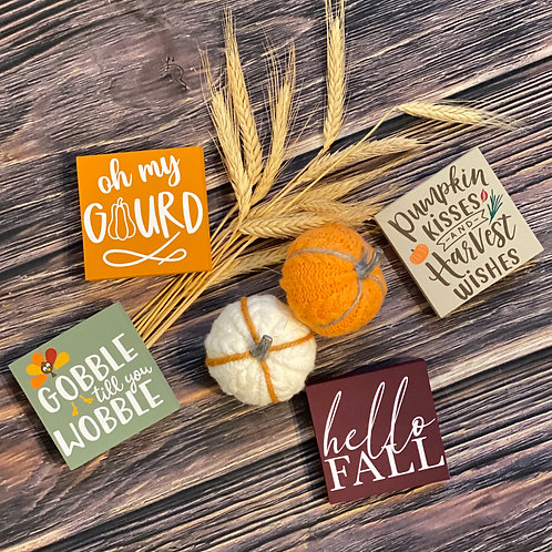 Fall Themed Signs