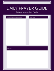Daily Prayer Guide, combining scripture and prayer