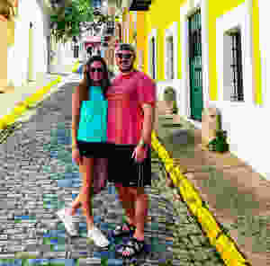 Walking the streets of San Juan, Puerto Rico on Carnival cruise