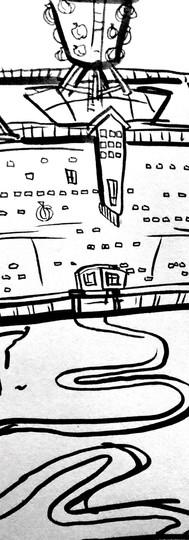 Bleaker Hotel concept sketch