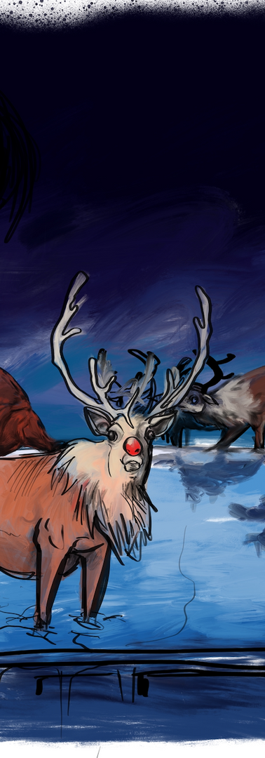 REINDEER ON A ROOF