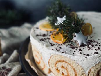 Winterliche Topfen-Orangentorte