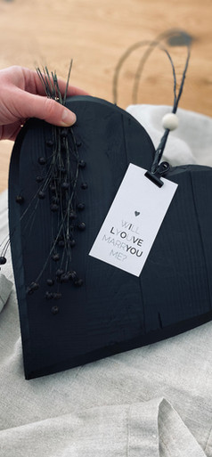 schwarzes Herz will you merry me - hondw