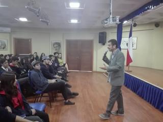 Visita de académico de la Universidad de Chile.