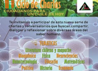"""Inicio del Ciclo de Charlas 2019.""""Ciudadan@s para el Chile de Hoy"""". III Versión"""