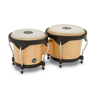"Satin-finish-wood-bongos-with-6""-and-7""-"