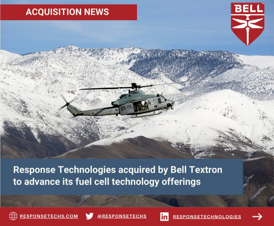 Bell Helicopter flying over snow covered mountain range | Response Technologies | United States