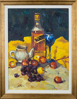 Still Life with bottle and wine glas