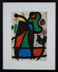 Abstract print by Joan Miró