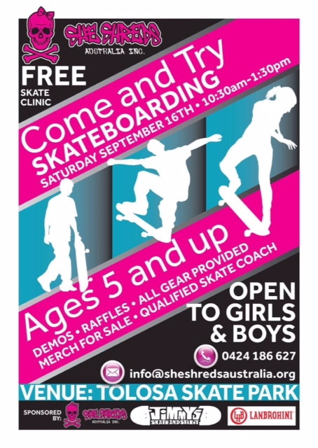 Tolosa Skate Come and Try day Sat 16th September