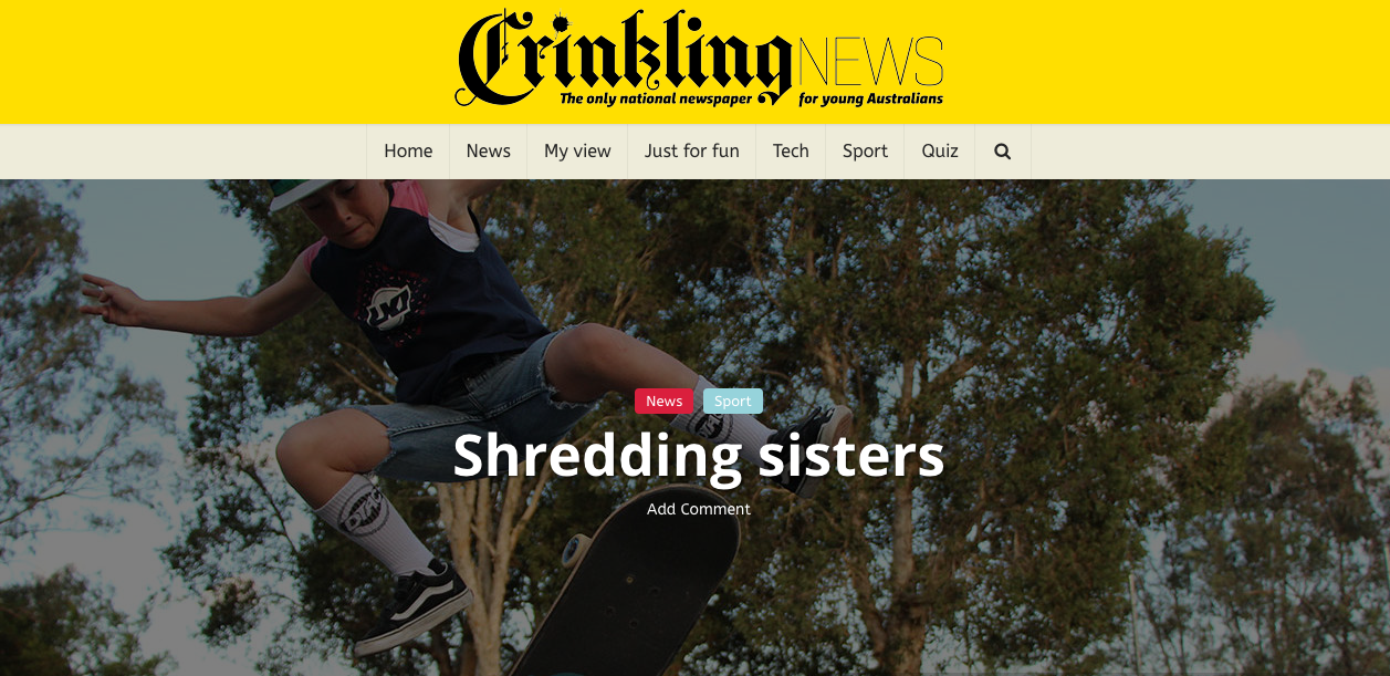 Crinkling News Article