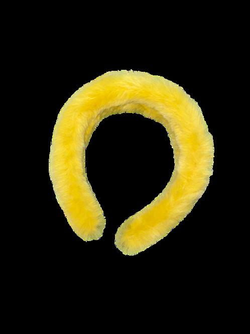 Mustard Yellow Fur Headband